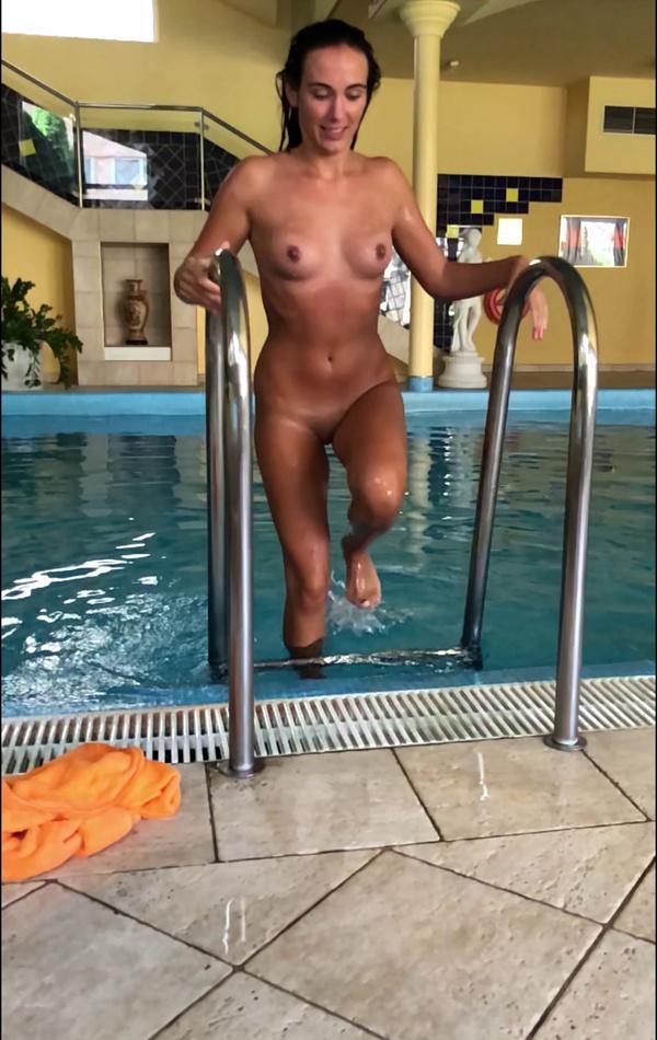 Little mermaid from public pool